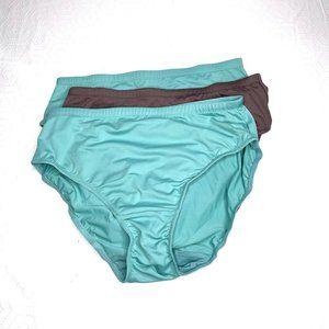Comfort Choice Teal Taupe Nylon Briefs 12/14